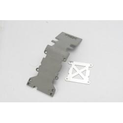 4938A H1 Placa protecção, traseira plastico (cinzento)