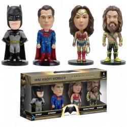 Batman v Superman Mini Wacky Wobblers Bobble-Heads 4-Pack 7 cm