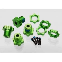 Wheel hubs, splined, 17mm (green-anodized) (4)