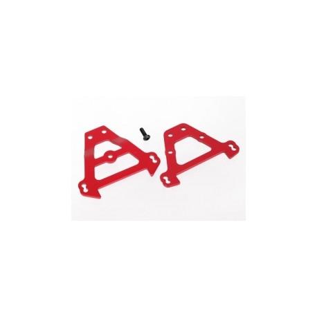 Bulkhead tie bars, front & rear (red-anodized aluminum)