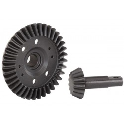 Ring gear, dif/ pinion, differential (machine, Front)