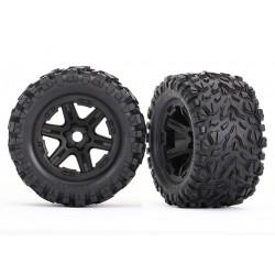 Tires & wheels, assembled, glued (black wheels) (2)