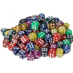 Assorted Marble D6 Dice 16 mm