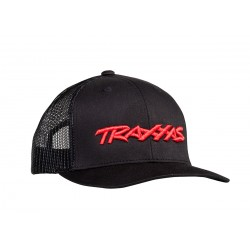 TRUCKER HAT CURVED BILL BLACK TRAXXAS LOGO