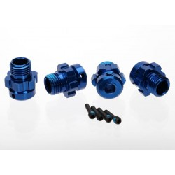 Wheel hub, splined, 17mm, 6061-T6 aluminum (blue-anodized)