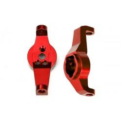 Caster blocks, 6061-T6 aluminum Red