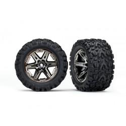 "Tires & wheels, assembled, glued (2.8"") (RXT black chrome w)"