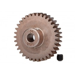 Gear, 34T pinion (0.8 metric pitch, compatible with 32P)