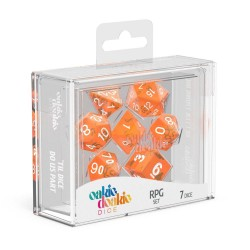 Oakie Doakie Dice RPG Set Translucent - Orange