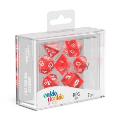 Oakie Doakie Dice RPG Set Translucent - Red