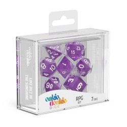 Oakie Doakie Dice RPG Set Speckled - Purple