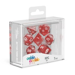 Oakie Doakie Dice RPG Set Speckled - Red