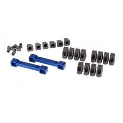 Mounts, suspension arms, aluminum (blue-anodized)