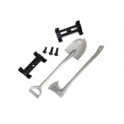 Shovel/ axe/ accessory mount/ mounting hardware