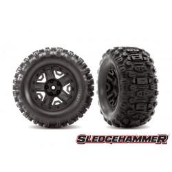 """Tires & wheels, glued (black 2.8"""" wheels, Sledgehammer tires"""