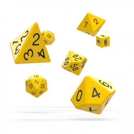 Oakie Doakie Dice RPG Set Solid - Yellow