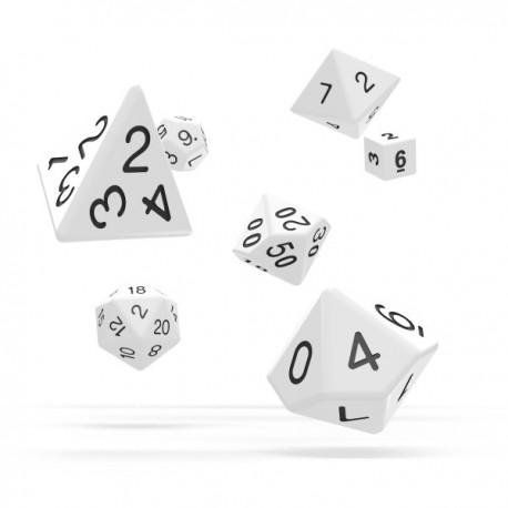 Oakie Doakie Dice RPG Set Solid - White