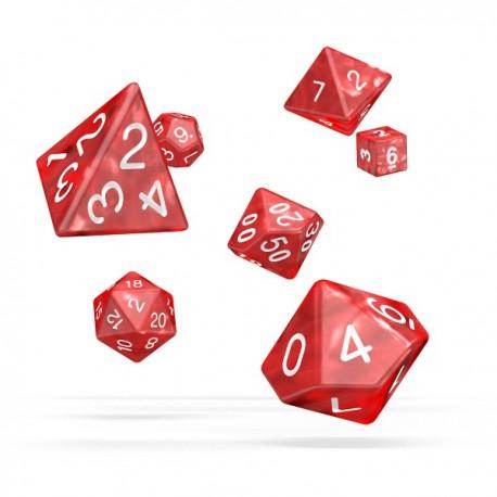 Oakie Doakie Dice RPG Set Marble - Red