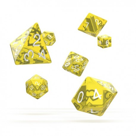 Oakie Doakie Dice RPG Set Translucent - Yellow