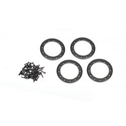 """Beadlock rings, black (1.9"""") (aluminum) (4)"""