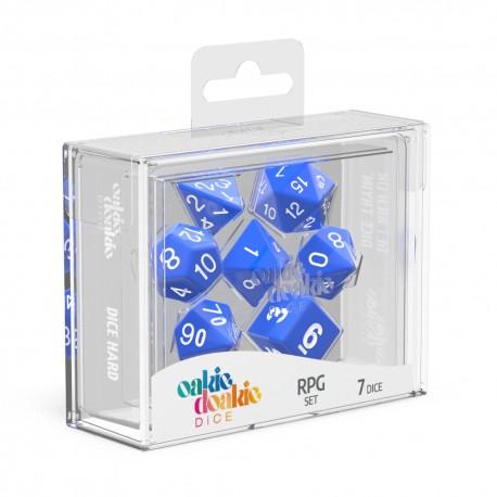 Oakie Doakie Dice RPG Set Solid - Blue