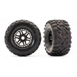 Tires & wheels (black wheels, Maxx 17mm)