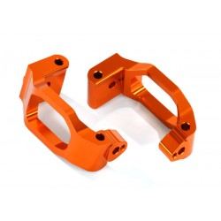 Caster blocks (c-hubs), 6061-T6 aluminum (orange-anodized)