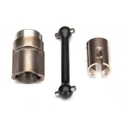 Driveshaft, center, front (steel)/ 2.5x12 screw pin