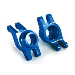 Carriers, stub axle (blue-anodized 6061-T6 aluminum) (rear))