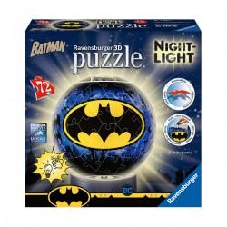3D Puzzle-Ball - Batman Night-Light - 72pc