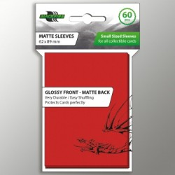 Blackfire Sleeves - Small Double-Matte Red (60 Sleeves)