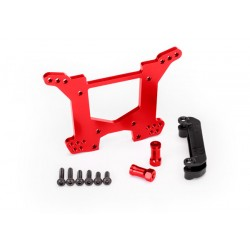 Shock tower, rear, 7075-T6 aluminum RED