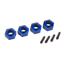 Wheel hubs, 12mm hex, 6061-T6 aluminum (blue-anodized) (4)