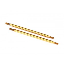 Shock shaft, 74mm (GTR) (rear) (TiN-coated) (2)
