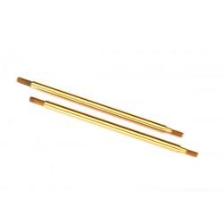 Shock shaft, 81mm (GTR) (rear) (TiN-coated) (2)