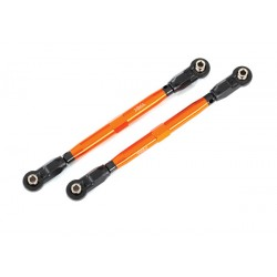 Toe links, front (TUBES orange-anodized aluminum) (2)