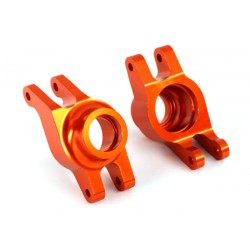 Carriers, stub axle (orange-anodized aluminum) (rear) (2)