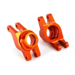 Carriers, stub axle (orange-anodized aluminum) (rear) (2)