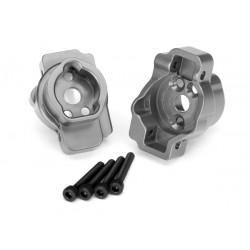 Portal drive axle mount, rear, 6061-T6 aluminum gray