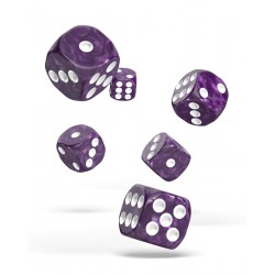 Oakie Doakie Dice D6 16 mm Marble - Purple (12)