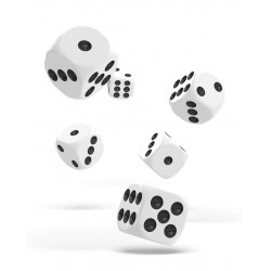 Oakie Doakie Dice D6 16 mm Solid - White (12)