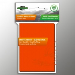 Sleeves - SMALL Double-Matte Orange (60 Sleeves)