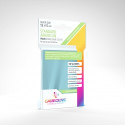 Gamegenic PRIME Standard American Sleeves 59x91 Clear (50)