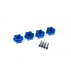 Wheel hubs, hex, aluminum (blue-anodized) (4) MAXX