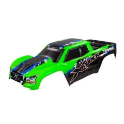 Body, X-Maxx®, green (painted, decals applied)