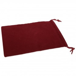 Large Suedecloth Dice Bags Red