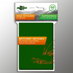 Sleeves - SMALL Double-Matte Green (60 Sleeves)