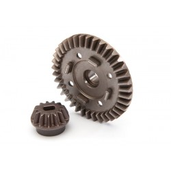 Ring gear, differential/ pinion gear, differential (rear)