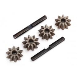 Gear set, differential (spider gears 4, spider gear shaft 2)