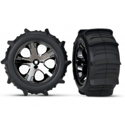 "Tires & wheels, assembled, glued (2.8"") Paddle Tires"